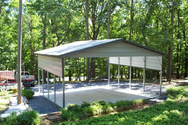 This is a picture of a standard metal carports.